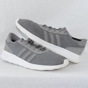 Adidas Lite Racer Gray Athletic Shoes Size 11